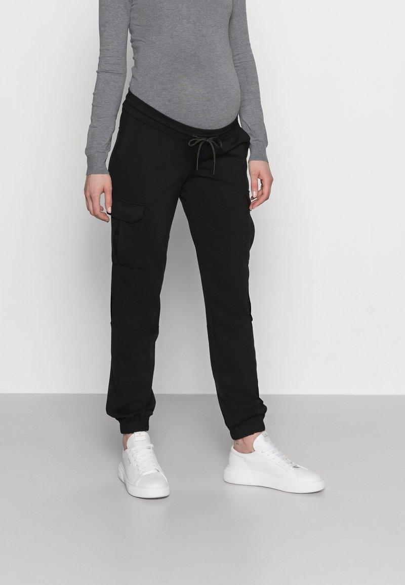 MAMALICIOUS - MLMARIE JERSEY PANTS - Pantalones deportivos - black