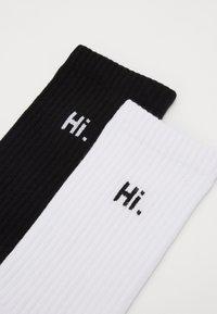 Urban Classics - HI BYE SOCKS 2 PACK - Socks - black/white - 2