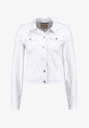 ONLTIA JACKET - Denim jacket - white