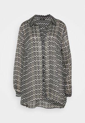 CHEVRON  - Button-down blouse - mono