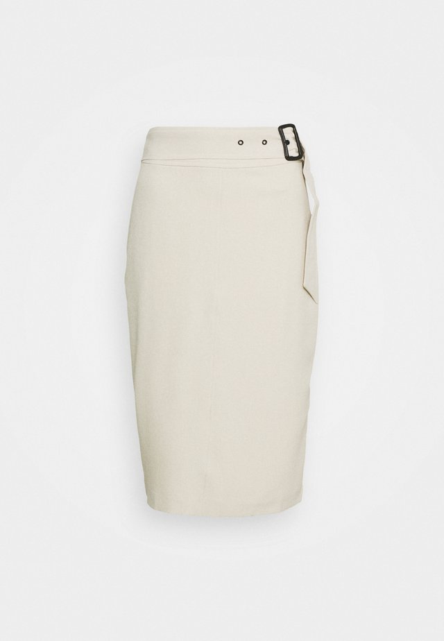 SKIRT - Falda de tubo - cream