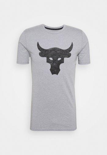 ROCK BRAHMA BULL - T-shirt con stampa - steel light heather