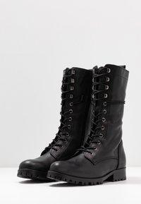 Zign - Bottines à lacets - black - 4