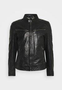 DERRY - Leather jacket - schwarz