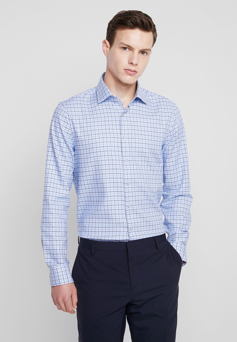 Calvin Klein Tailored - MULTI CHECK FITTED - Chemise classique - blue