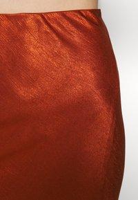 Third Form - ORBIT BIAS SPLIT SKIRT - Jupe longue - copper - 5