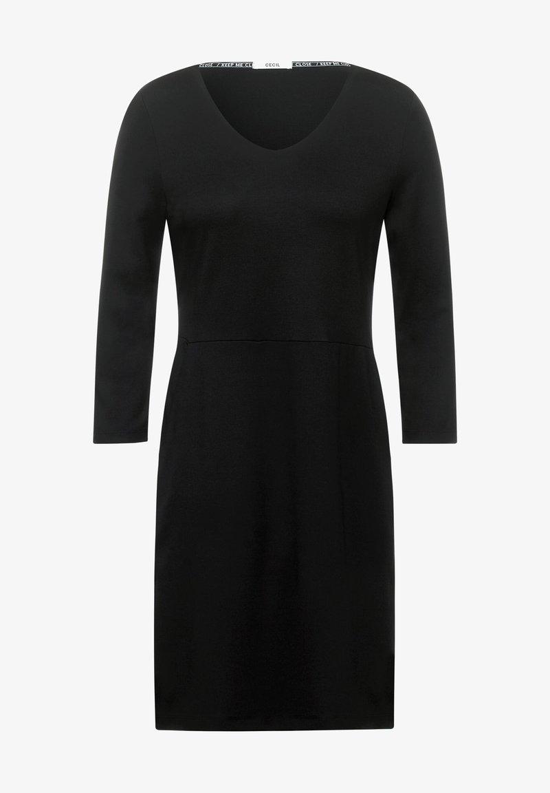 kleid in unifarbe - freizeitkleid - black