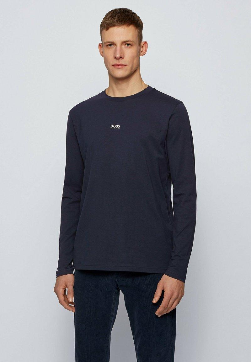 BOSS - TCHARK - Long sleeved top - dark blue