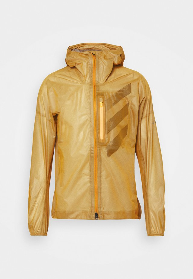 TECHNICAL TRAIL RUNNING JACKET - Veste coupe-vent - gold
