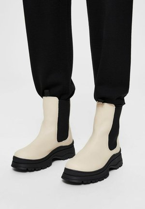 SLFLUCY - Platform ankle boots - sand
