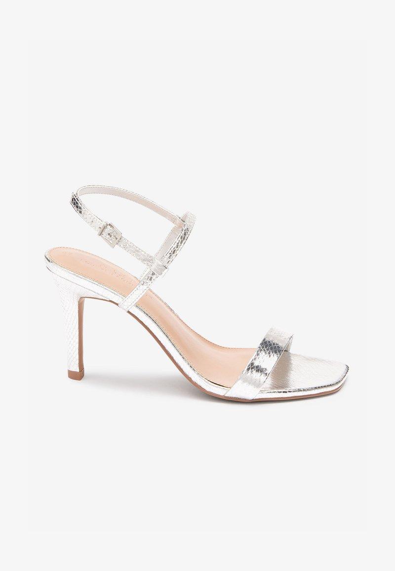 Next - High heeled sandals - silver