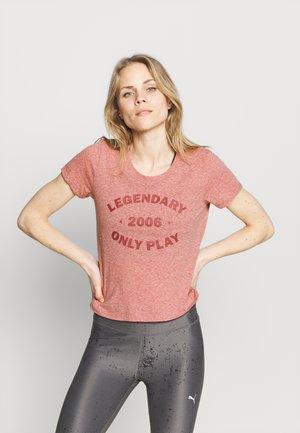 ONPJOSEFA TEE - T-shirt z nadrukiem - red ochre/melange