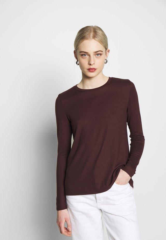 CREW BUTTER PLUSH - Long sleeved top - burgundy