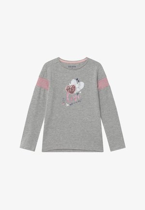 KIDS SEQUIN LOVE HEART - Langærmede T-shirts - nebel
