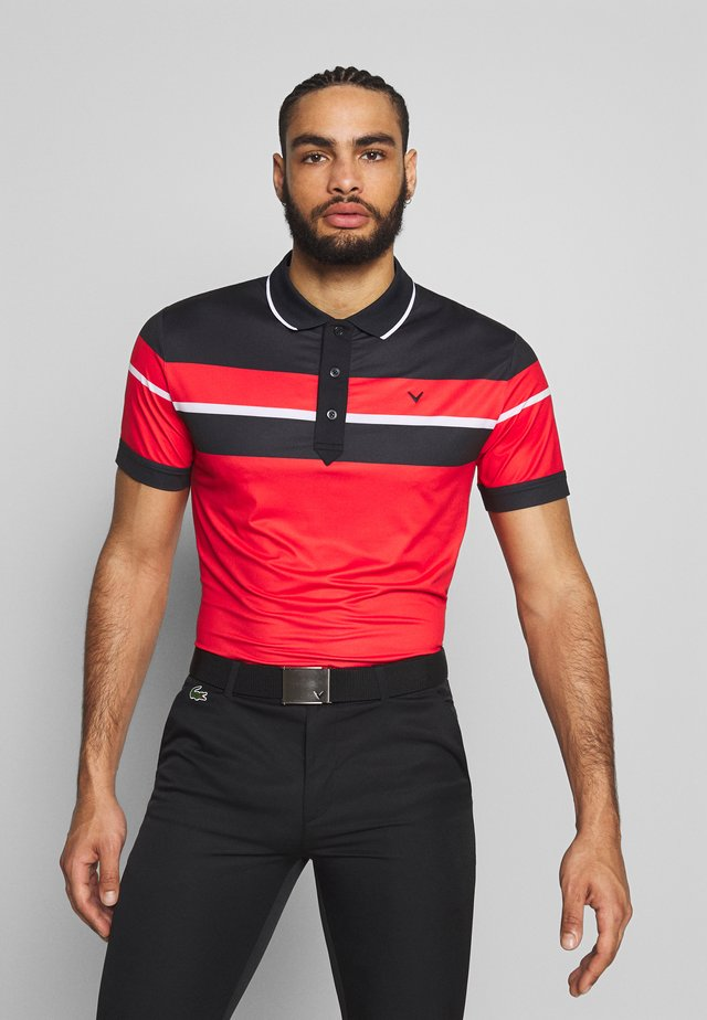 SHOULDER CHEST BLOCK - T-shirt sportiva - high risk red