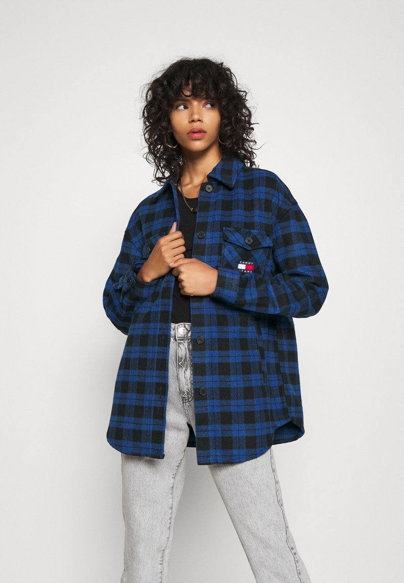Tommy Jeans - Button-down blouse - providence blue/black