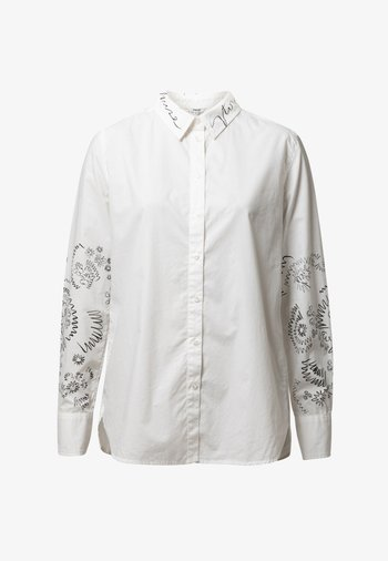 CHIARA - Button-down blouse - white