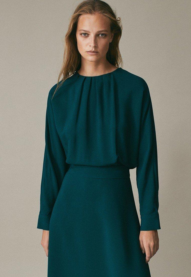 Massimo Dutti Cocktailkleid/festliches Kleid - green - Zalando.de