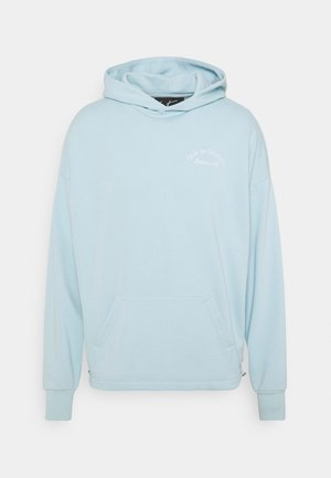 CLUB DE COUTURE TAPED OVERLOCK RUCHED HOODIE - Mikina - sky blue