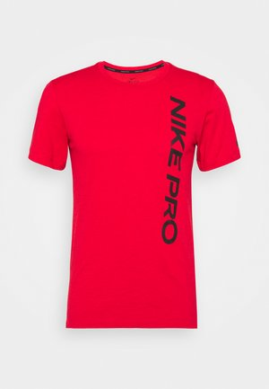 BURNOUT - Camiseta estampada - university red/black