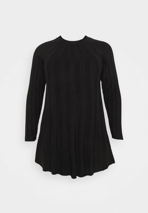 SWING DRESS - Robe pull - black