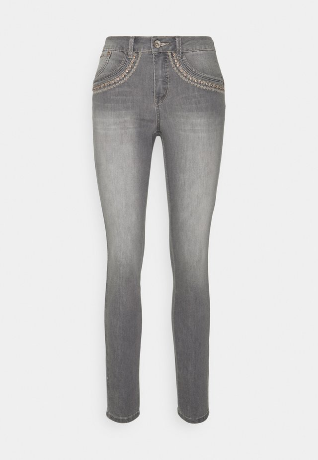 ERDIS SHAPE FIT - Slim fit jeans - light grey denim