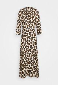 Closet - CLOSET HIGH NECK FRONT SLIT DRESS - Day dress - brown - 4