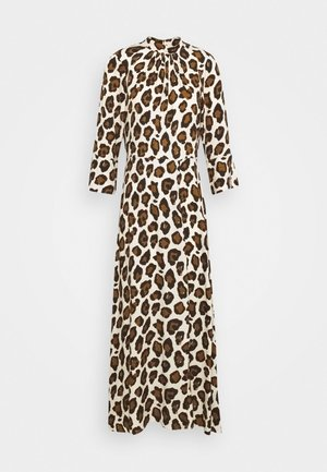 CLOSET HIGH NECK FRONT SLIT DRESS - Hverdagskjoler - brown