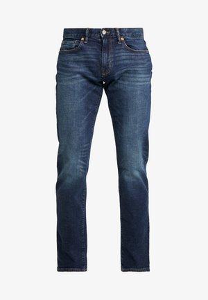 DARK CYPRESS - Straight leg jeans - tinted blue