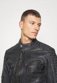 Freaky Nation - BEST BUDDY - Leather jacket - black - 3