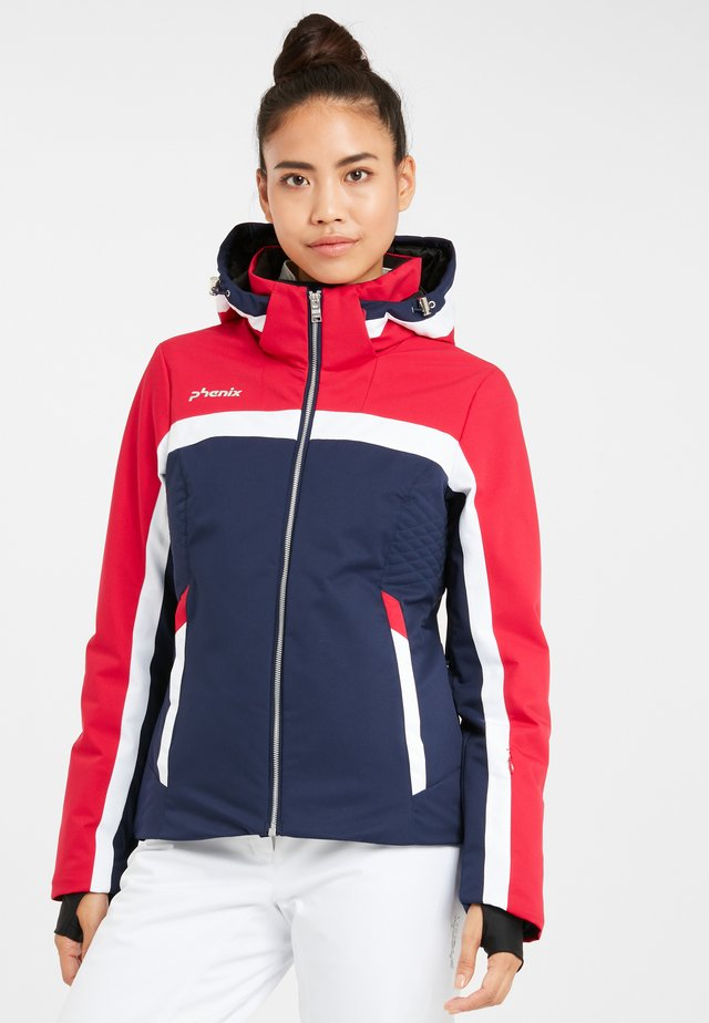 WILLOW - Ski jacket - dark navy/magenta
