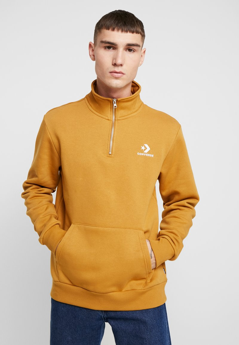Converse - STAR CHEVRON HALF ZIP - Sweatshirt - wheat