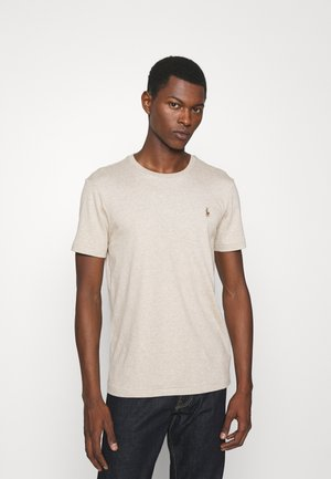 CUSTOM SLIM SOFT COTTON TEE - T-shirt - bas - tuscan beige heather