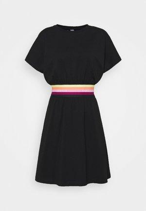 LOGO TAPE DRESS - Vestido informal - black