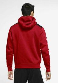 Nike Sportswear - HOODIE - Zip-up sweatshirt - university red black white - 2