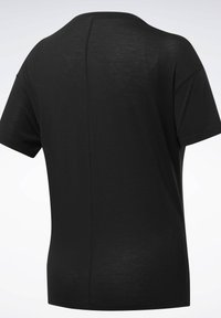 Reebok - WORKOUT READY SUPREMIUM SLIM FIT BIG LOGO - T-shirt print - black - 6