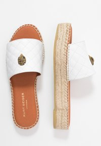 Kurt Geiger London - KARMEN SLIDE - Klapki - white - 3
