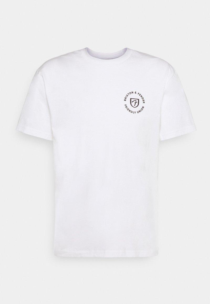 Brixton - FENDER HIGHWAY - T-shirt imprimé - off white