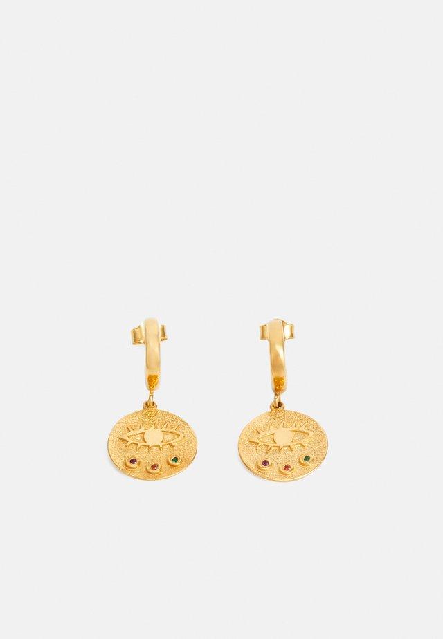 KRESSIDA MINI HUGGIES - Boucles d'oreilles - gold-coloured/multi