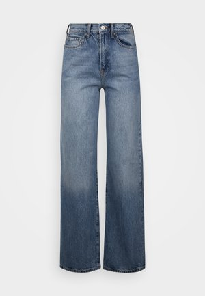 PCFLIKKA SUPER WIDE - Relaxed fit jeans - medium blue