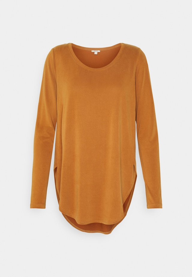 Long sleeved top - rust brown