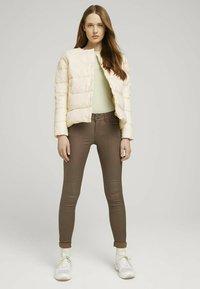 TOM TAILOR DENIM - KRAGENLOSE  - Winter jacket - blazed beige - 1