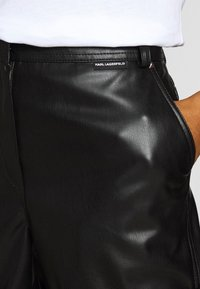 KARL LAGERFELD - Leather trousers - black - 4