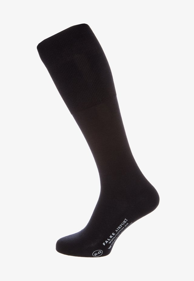 AIRPORT - Knee high socks - dark navy