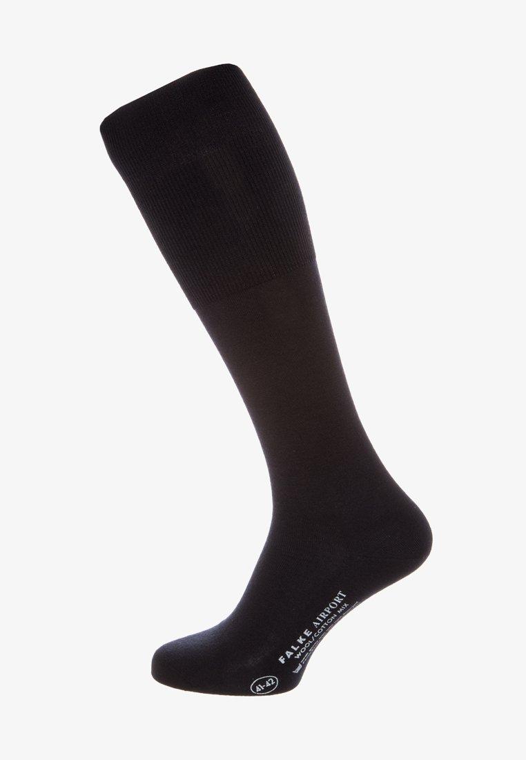 FALKE - AIRPORT KNIESTRÜMPFE SCHURWOLLE-MIX - Knee high socks - dark navy