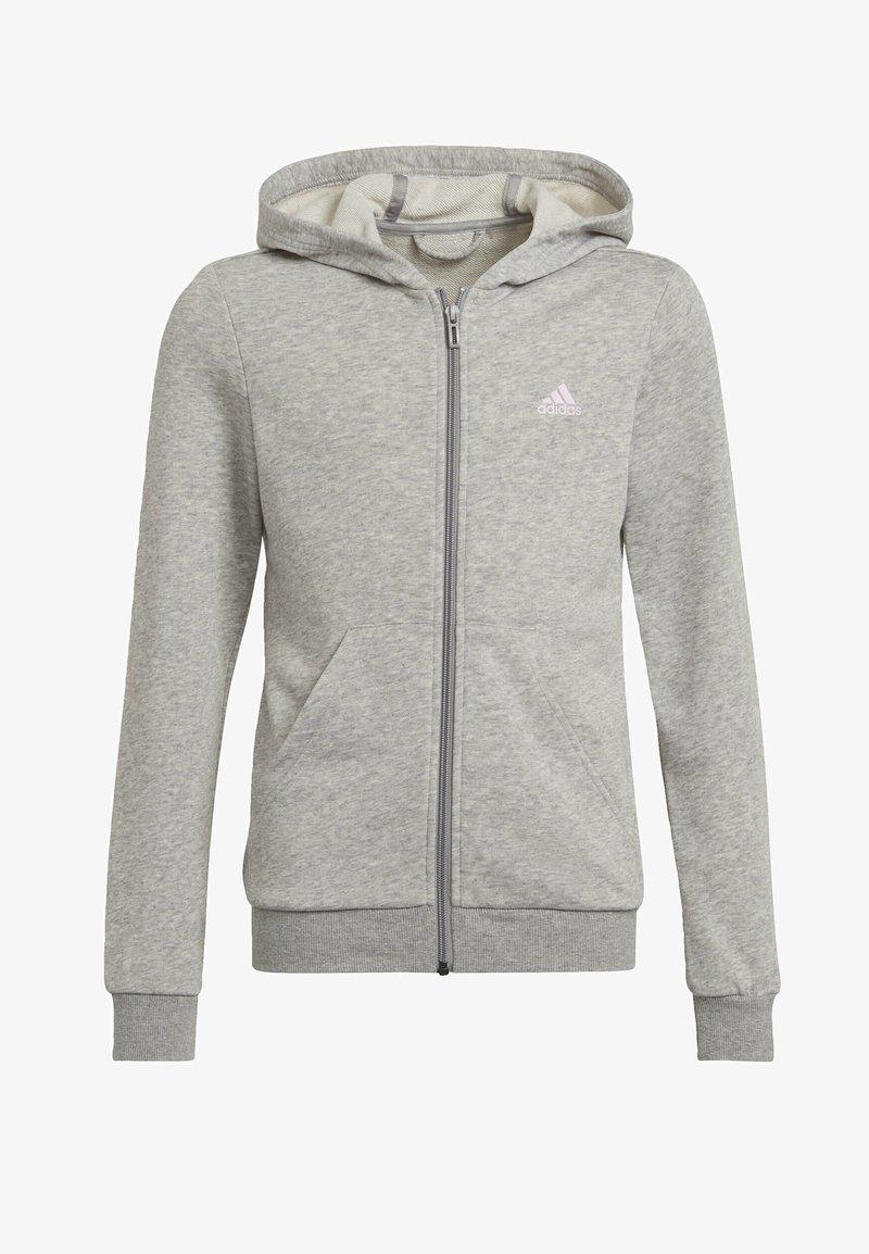 adidas Performance - Sweat à capuche zippé - grey