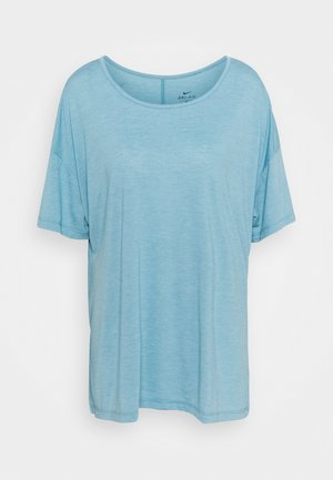 YOGA LAYER PLUS - Camiseta básica - cerulean heather/glacier blue/light armory blue
