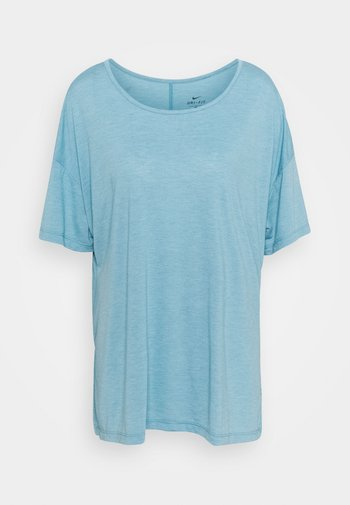 YOGA LAYER PLUS - T-shirts - cerulean heather/glacier blue/light armory blue