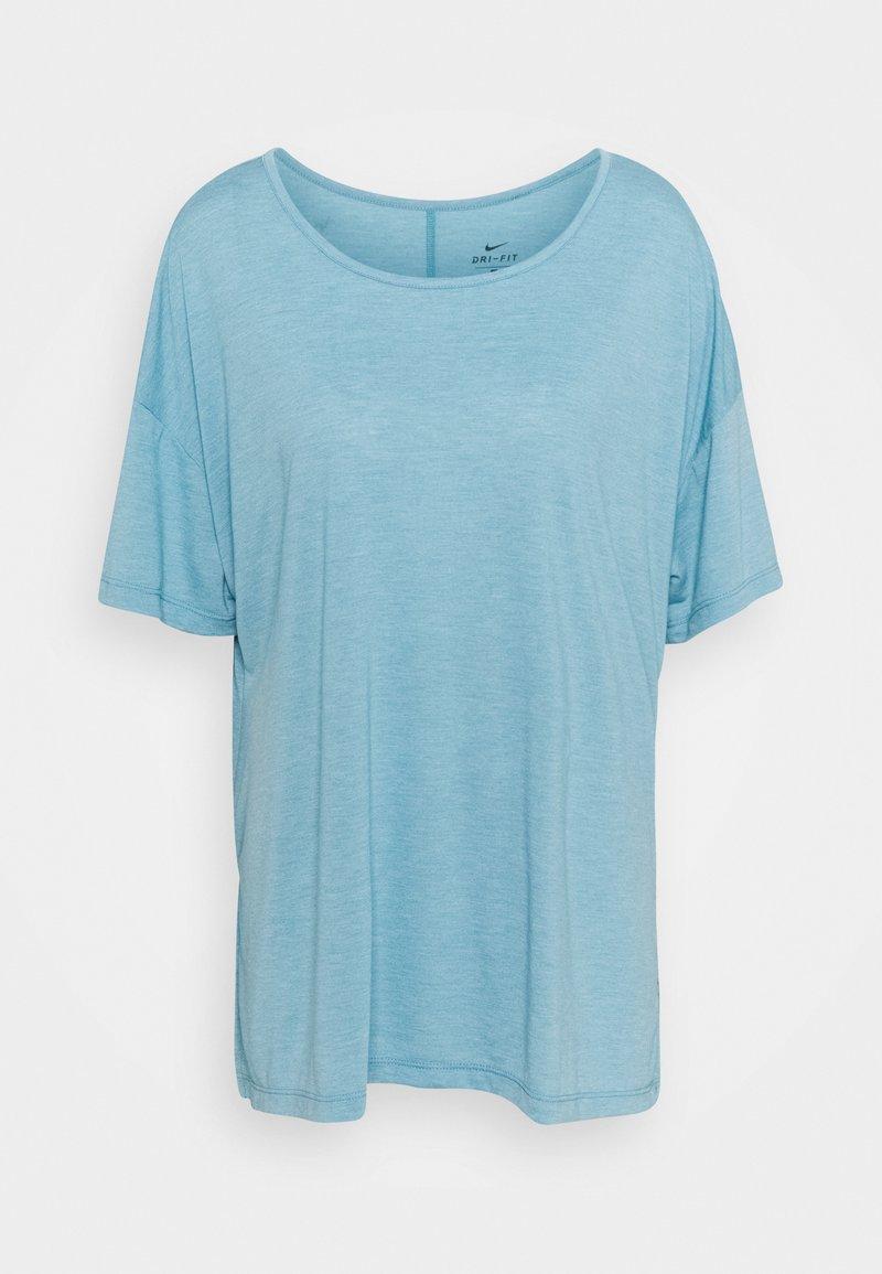 Nike Performance - YOGA LAYER PLUS - T-shirts - cerulean heather/glacier blue/light armory blue