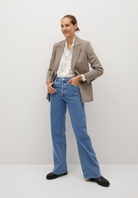 Mango - CACHITO - Button-down blouse - šedobílá - 1